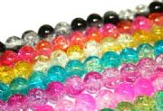 Crackled glass beads